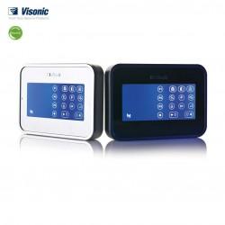 Clavier écran tactile LCD - Lecteur proximité blanc