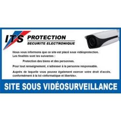 Lot de 4 Autocollants site sous vidéosurveillance