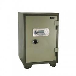 Coffre fort métal ignifugé serrure à code et clef armoire metallique haute sécurité anti feu